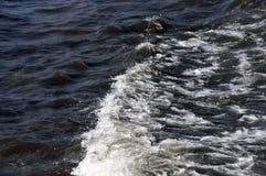 Niespokojna woda rzeczna Zdjęcia Stock