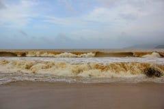 Niespokojni morza Wietnam Zdjęcie Stock