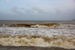 Niespokojni morza Wietnam Zdjęcia Royalty Free