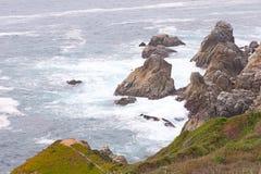 Niespokojny wybrzeże Obrazy Royalty Free