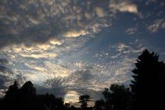 Niestały niebo Obrazy Royalty Free