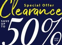 niestabilność 5 2 Poremanentowa sprzedaż 50 procentów kłoszenia projekt dla sztandaru lub ilustracja wektor