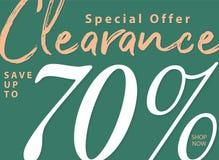 niestabilność 5 2 Poremanentowa sprzedaż 70 procentów kłoszenia projekt dla sztandaru lub ilustracja wektor