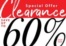 niestabilność 5 Poremanentowa sprzedaż 60 procentów kłoszenia projekt dla sztandaru lub po royalty ilustracja