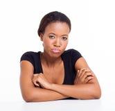 Nieszczęśliwa afrykańska dziewczyna Obrazy Stock