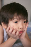 nieszczęśliwa chłopca Zdjęcia Stock