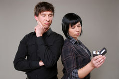 nieszczęśliwa małżeństwo propozycja fotografia stock