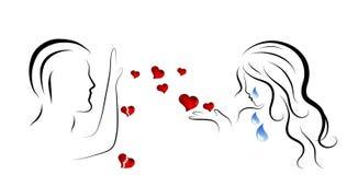 Nieszczęśliwa miłość royalty ilustracja