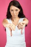 nieszczęśliwa niepomyślna kobieta Fotografia Royalty Free