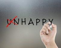 Nieszczęśliwy szczęśliwy fotografia royalty free