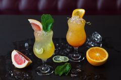Niet-alkoholische cocktails stock foto's