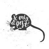 Niet alleen ongedierte het van letters voorzien in muis Royalty-vrije Stock Afbeelding