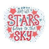 Niet behoren alle sterren tot de hemel Vector royalty-vrije illustratie
