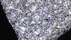 Niet 3D diamantring, het de video die van ` s slechts schieten stock footage