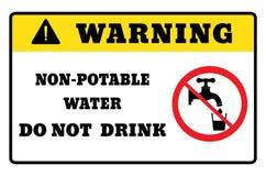 Niet drinkbaar water waarschuwingsbordtekening door illustratie vector illustratie