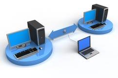 Niet een veilig computernetwerk royalty-vrije illustratie