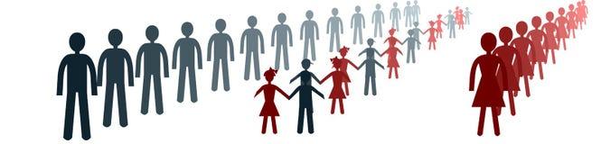 Niet functioneel gescheiden families conceptueel beeld royalty-vrije illustratie