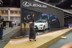 Niet geïdentificeerd model bij de Internationale Motor Expo van Thailand Royalty-vrije Stock Afbeeldingen