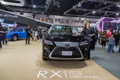 Niet geïdentificeerd model bij de 33ste Internationale Motor Exp van Thailand Royalty-vrije Stock Foto's