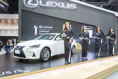 Niet geïdentificeerd model bij de 33ste Internationale Motor Exp van Thailand Royalty-vrije Stock Fotografie