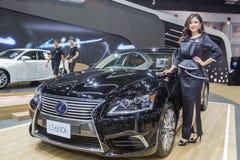 Niet geïdentificeerd model bij de 33ste Internationale Motor Exp van Thailand Royalty-vrije Stock Afbeelding