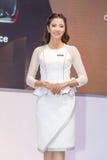 Niet geïdentificeerd model bij de 33ste Internationale Motor Exp van Thailand Stock Afbeelding