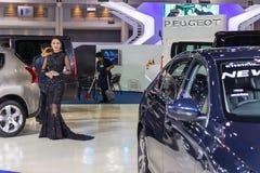 Niet geïdentificeerd model in 33ste Thailand Internationale MotorExpo Stock Foto's
