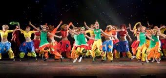 Niet geïdentificeerde kinderen van dansende groep Belka Stock Afbeelding