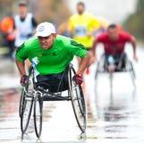 Niet geïdentificeerde marathonagent Stock Foto's