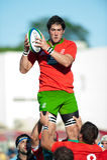 Niet geïdentificeerde rugbyspelers Royalty-vrije Stock Afbeelding