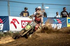 Niet gedefiniëerde ruiter op Pools Motocrosskampioenschap Royalty-vrije Stock Afbeeldingen