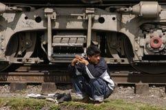 Niet gedocumenteerde migrant stock fotografie