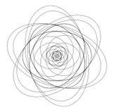 Niet gekleurde presentatie van atoom orbitale weg royalty-vrije illustratie