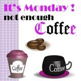 Niet genoeg koffie Royalty-vrije Stock Afbeelding