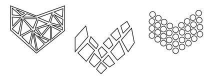 Niet genormaliseerde, niet banale, modieuze reeks zwart-wit die harten op wit wordt geïsoleerd Vector royalty-vrije illustratie