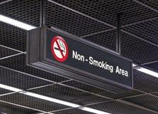 Niet het roken gebied stock afbeelding