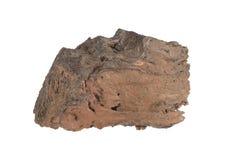 Niet magma meer, lavarots op witte achtergrond wordt geïsoleerd die stock foto
