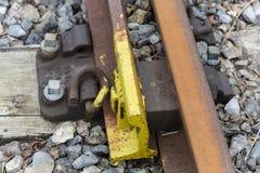 De bouten van de spoorweg Stock Foto
