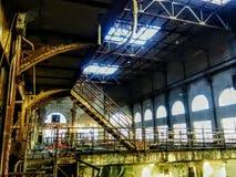 Niet meer onderwater na 40 yrs Market Street-de verlaten Market Street Elektrische centrale van Machtsplannew Orléans stock afbeelding