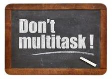 niet multitask! Stock Foto's
