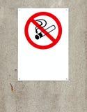 Niet rokend teken stock afbeeldingen