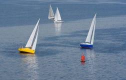 Niet succesvolle draai in yachting ras royalty-vrije stock foto