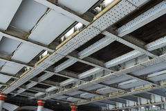 Niete und Eisen, Eisenbahnbrücke der Unterseite Lizenzfreies Stockbild