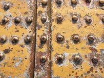 Niete und Rost auf einer alten Eisenbahnbrücke Lizenzfreie Stockfotografie