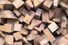 Nietje van biomassa, geschikt brandhout Royalty-vrije Stock Foto's