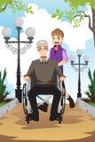 Nieto y abuelo Fotografía de archivo libre de regalías