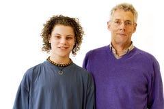 Nieto y abuelo Imagen de archivo
