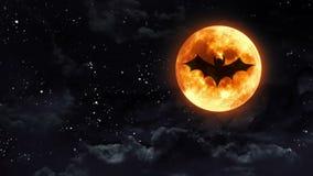 Nietoperz księżyc jasny czerń ilustracja wektor