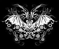 nietoperza Halloween tatuaż Zdjęcia Stock