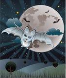 nietoperza księżyc w pełni ilustracja wektor
